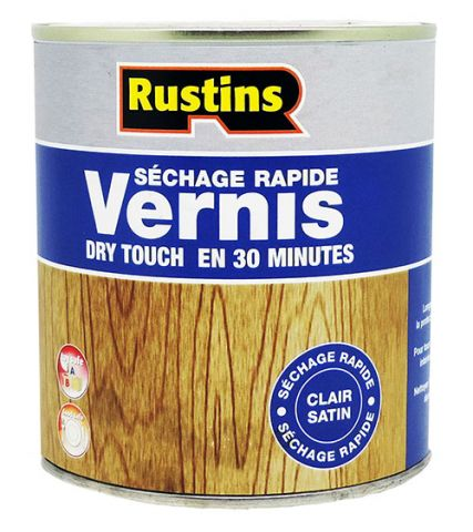 Rustins QD Clear Satin Varnish